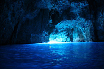 Sea cave at Kastelorizo island Greece