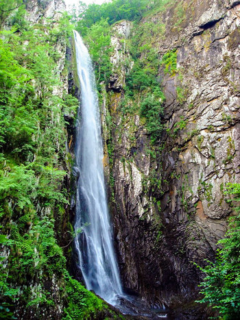 Waterfall at Samothraki island Greece